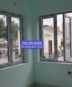 Cửa sổ mở quay 4 cánh nhôm xingfa rất được ưa chuộng